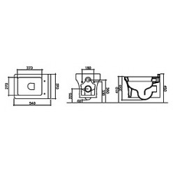 Унитаз подвесной Disegno Ceramica Neo NE00500001
