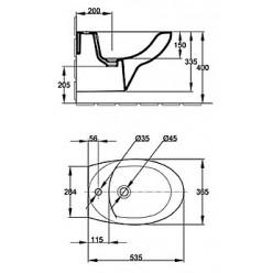 Комплект Биде подвесное Jacob Delafon Patio E4189 + Инсталляция VitrA 780-5820 + Смеситель Jacob Delafon July E16028-4-CP + Сифон Geberit 151.108.11.1