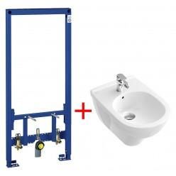 Комплект Биде подвесное Villeroy & Boch O'Novo 5460 0001 alpin + Система инсталляции для биде Grohe Rapid SL 38553001