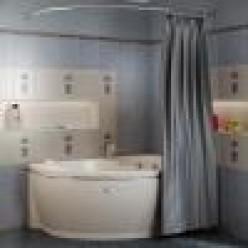 """Карниз Chrome для шторки на ванну """"Амелия"""""""