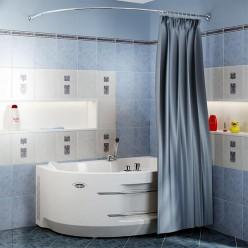 """Карниз Chrome для шторки на ванну """"Ирма"""""""