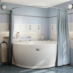"Карниз Chrome для шторки на ванну ""Альбена"""