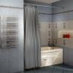 Карниз Chrome прямой (3000 мм) для шторки на прямоугольную ванну