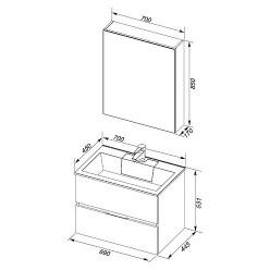 Мебель для ванной Aquanet Алвита 70 серый антрацит