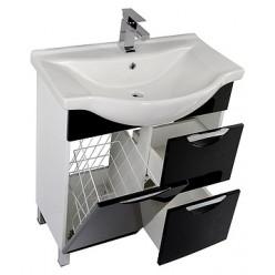Мебель для ванной Aquanet Асти 75 черная