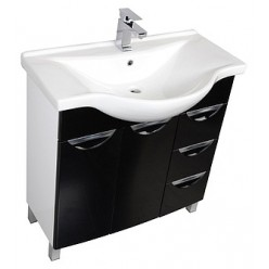 Мебель для ванной Aquanet Асти 85 черная