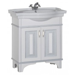 Мебель для ванной Aquanet Валенса 80 белый краколет/серебро