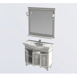 Мебель для ванной Aquanet Валенса 100 белый краколет/серебро