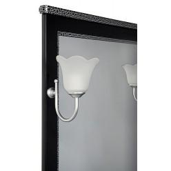 Мебель для ванной Aquanet Валенса 70 черный краколет/серебро
