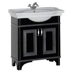 Мебель для ванной Aquanet Валенса 80 черный краколет/серебро