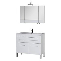 Мебель для ванной Aquanet Верона 100 белая, 1 ящик, 2 двери
