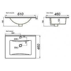 Мебель для ванной Aqwella Бриг 60 напольная, сосна магия
