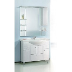 Мебель для ванной Aqwella Барселона Люкс 105 с бельевой корзиной