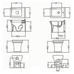 Биде напольное Disegno Ceramica Neo NE0060010