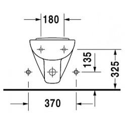 Биде подвесное Duravit D-Code 22371500002 укороченное