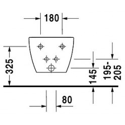 Биде подвесное Duravit Happy D.2 2258150000