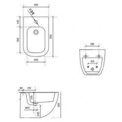 Биде подвесное Galassia Plus Design 6112