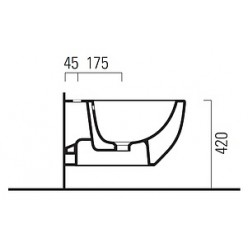 Биде подвесное GSI Panorama Basic 666411
