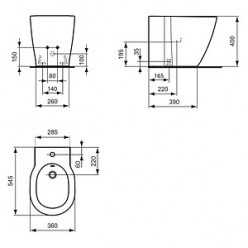 Биде напольное Ideal Standard Connect E799501