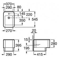 Биде напольное Roca Element 357574000 с намеченным отверстием для смесителя