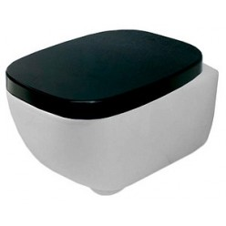 Унитаз подвесной Hidra Ceramica Dial mini белый с черным