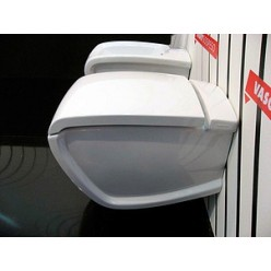 Унитаз подвесной Hidra Ceramica Hi-line белый с красным