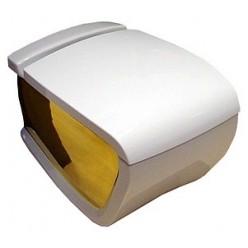 Унитаз подвесной Hidra Ceramica Hi-line белый с золотом