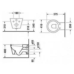 Унитаз подвесной Duravit Starck 1 0210090064