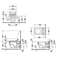 Унитаз подвесной Duravit Starck 3 2226590000