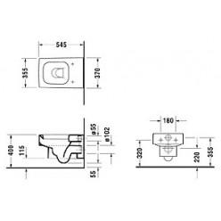 Унитаз подвесной Duravit Vero 2217090064