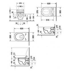 Унитаз подвесной Duravit Starck 3 SensoWash