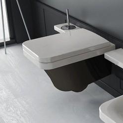 Унитаз подвесной Hidra Ceramica Flat белый с черным