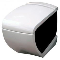 Унитаз приставной Hidra Ceramica Hi-line белый с черным