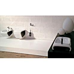 Унитаз приставной Hidra Ceramica Hi-line белый с красным