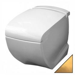 Унитаз приставной Hidra Ceramica Hi-line белый с золотом