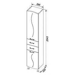 Шкаф-пенал Aquanet Моника 40 R