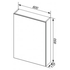 Зеркало-шкаф Aquanet Алвита 60 белый L