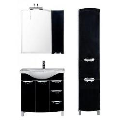 Зеркало-шкаф Aquanet Асти 85 черный