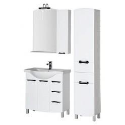 Зеркало-шкаф Aquanet Асти 85 белый