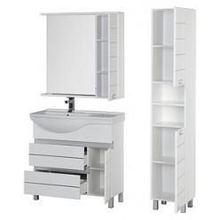 Зеркало-шкаф Aquanet Доминика 90 белый L