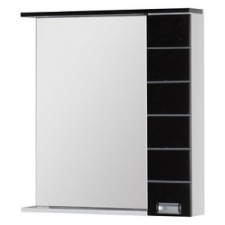 Зеркало-шкаф Aquanet Доминика 80 черный