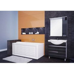 Зеркало-шкаф Aquanet Доминика 100 черный