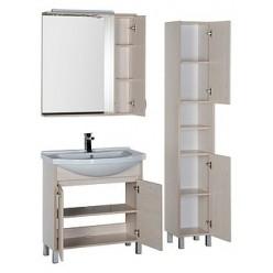 Зеркало-шкаф Aquanet Донна 80 беленый дуб