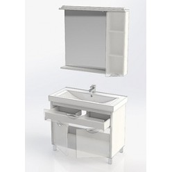 Зеркало-шкаф Aquanet Гретта 100 белый