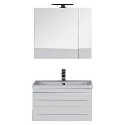 Зеркало-шкаф Aquanet Верона 75 белый