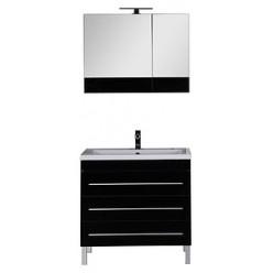 Зеркало-шкаф Aquanet Верона 90 черный
