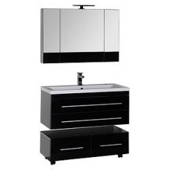 Зеркало-шкаф Aquanet Верона 100 черный