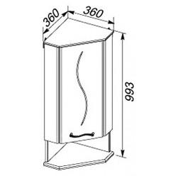 Шкаф Aquanet Моника 35 R угловой