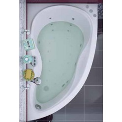 Акриловая гидромассажная ванна (форсунки Шампань) Мальдива (Maldiva) 150×90 правая