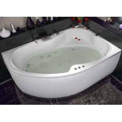 Акриловая гидромассажная ванна (форсунки Шампань) Капри (Capri) 170×110 левая